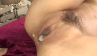 Hatano Yui penetrated and cream-pied in her pinkish muffin