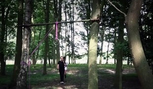Attractive brunette bdsm used nearby dramatize expunge woods