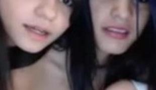 Three beautiful teenage lezzers stripping on webcam